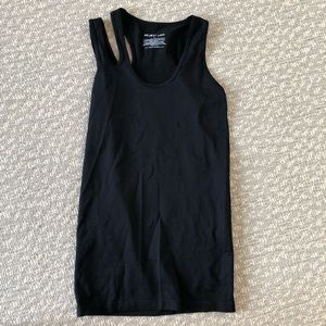Helmut Lang nylon cutout top